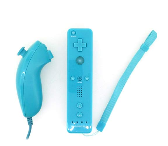 Wii/Wii U用 2-in-1 モーションプラス リモコンとヌンチャク ...