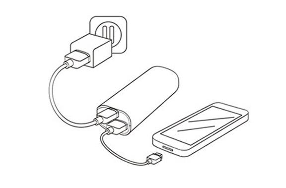 batteria esterna universale per cellulari  2600mah