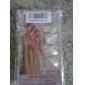 100 a favor claro y falsas puntas de las uñas de acrílico del arte