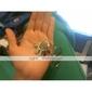 les amateurs de porte-clés inoxydable (palme et le cœur / 2-pièces)