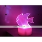 rgb valo johti viehättävä kala muotoinen lelu (3 * AG13)