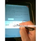 aluminiumslegering touchpad stylus penn for ipad, iPad 2 og den nye iPad (svart)