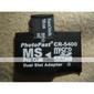 microsd double MS Pro adaptateur pour carte mémoire duo (noir)