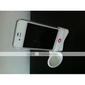 귀여운 아이폰 4 호른 스탠드 스피커 (흰색)