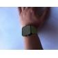 silicone, bande de femmes, d'hommes unisexes de gelée de style sport carrés miroir conduit montre-bracelet - vert