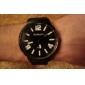силиконовой лентой классический большой набор моды кварца женщины мужчины случайные часы - черный