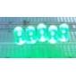 8000 мкд 5мм зеленый светодиод излучатели (10 шт)