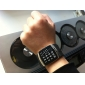 Stainless Steel Self-Winding Rubber LED Wristband (Black)