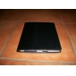 Estuche Duro de Cuero PU y Soporte para el iPad Apple (Negro)