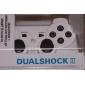 recarregável usb controlador sem fio para PS3 (branco)