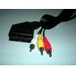 VGA à 3 x RCA et 1 x S-Vidéo câble de 0.1m