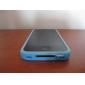 Bumper Frame Case for Apple iPhone 4 with Metal Button - Blue