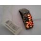 Black Metal Strip Digital Lava Style Iron Sport Womens Red LED Faceless Wrist Watch