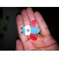 cartoon stijl mini houten koelkast magneet (12-pack)