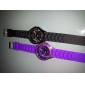 Pair of Chrysanthemum Shaped Metal Dial Design Quartz Wrist Watches - Black and Purple