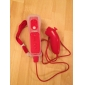 fjärr MotionPlus och Nunchuk med fallet för Wii / Wii U (röd)