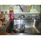 Stilvoller Küchen-Wasserhahn mit LED-Licht (aus Kunststoff, verchromt)
