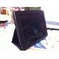 Case de Protecção de Pele PU + Suporte para iPad (Preto)