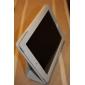 Estuche Duro de Cuero PU Con Soporte pare el Apple iPad 2 - Blanco