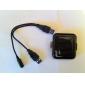 Mini Chargeur de Batterie à Energie Solaire pour iPhone, iPod, Téléphones Android et Appareils USB - Noir