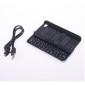 ultradunne bluetooth slide-out toetsenbord harde koffer voor Apple iPhone 4 - zwart