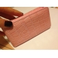 Protective Snakeskin PU Leather Case for iPhone 4 (Pink)