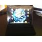 Elegante Estuche de Cuero PU Granulado, Con Soporte Giratorio en 360 grados de Coraza Dura Para el Apple iPad 2