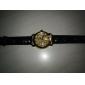 Relógio Mecânico Automático com Bracelete de Pele