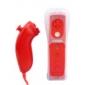 2-in-1 MotionPlus telecomando e nunchuk + custodia Wii / Wii U (rosso)