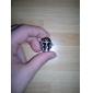 anel de caveira regulável com relógio
