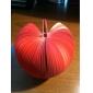 μοναδικό μίνι σχήμα μήλου κολλώδης σημειωματάριο (κόκκινο)