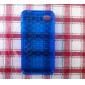пузыря прозрачной мягкий чехол для iphone4 (синий)