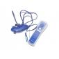 2-in-1 MotionPlus Fernbedienung und Nunchuk + Hülle für Wii (Blau)