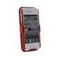 étui + étui clip ceinture combo pour iphone 4 (rouge)