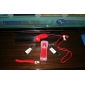 Remote MotionPlus and Nunchuk Controller with Case for Wii/Wii U (Red)