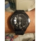 Fashionable Quartz Wrist Watch with Black Silicone Band