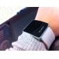 Reloj Pulsera Unisex de Pantalla Cuadrada Digital LED y Correa de Silicona Blanca
