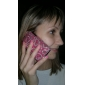 Premium Protective Back Case with Crystals for iPhone 3G/3GS (Red Heart)