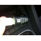 1000mA Mini USB Car Charging Adapter for iPhone 4 Black (5V-1A)