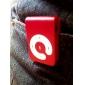 Mini Clip Plug-in Micro SD Card TF Card Reader MP3 Music Player - Dull-red