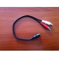 3.5mm audio jack (hembra) para cable de audio RCA (20cm)