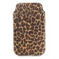 Protective Leopard's Spots Style Soft PU Leather Bag for iPhone