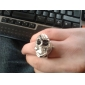 Skull Case Metal Ring Watch
