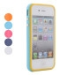 Silicone Bumper Frame Case for iPhone 4, 4S (Metal Button)