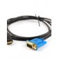 1.5M 5FT VGA to HDMI V1.3 M/M w/Ferrite Cores (Gold Plated Connectors)