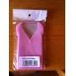 vêtements cool étui en silicone souple pour iPhone 4 (rose)