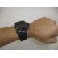 Relógio de Pulso Unisex com LED Colorido Edição V com Pulseira de silicone (Preto)