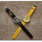 아가씨들 드레스 시계 패션 시계 손목 시계 석영 밴드 참 노란색