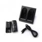 Dual USB di ricarica stand / Stazione / dock + pacco batterie per wii / wii u remoto (nero)