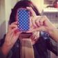 Etui de Protection en Polycarbonate pour iPhone 4/4S - Ancre et Pois